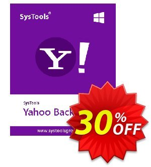SysTools Yahoo Backup Tool (100 Users) Coupon, discount SysTools coupon 36906. Promotion: