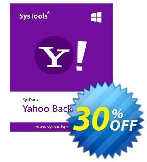 Yahoo Backup - 100 Plus Users License Coupon, discount SysTools coupon 36906. Promotion: