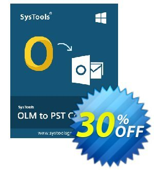 SysTools OLM to PST Converter Coupon, discount SysTools coupon 36906. Promotion: