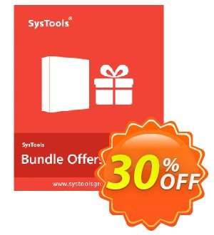 Bundle Offer - Hotmail Backup + Gmail Backup + Yahoo Backup (26 to 50 Users License) Coupon, discount SysTools coupon 36906. Promotion:
