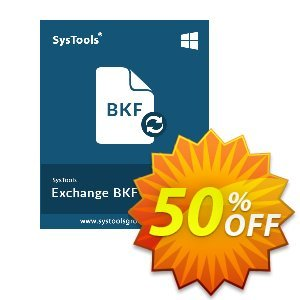 SysTools Exchange BKF Recovery Coupon, discount SysTools Summer Sale. Promotion: