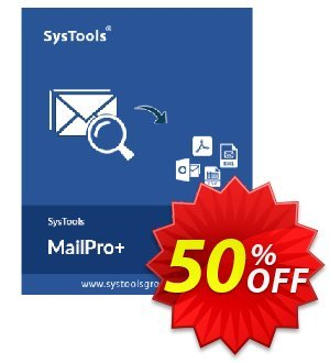 SysTools MailPro Plus (All License type) Coupon, discount SysTools coupon 36906. Promotion: