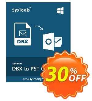 SysTools DBX to PST Converter (Business License) Coupon, discount SysTools coupon 36906. Promotion: SysTools promotion codes 36906