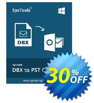 SysTools DBX to PST Converter (Enterprise License) Coupon, discount SysTools coupon 36906. Promotion: SysTools promotion codes 36906