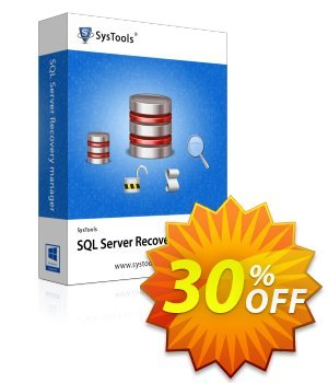 SysTools SQL Server Recovery Manager discount coupon SysTools Summer Sale - SysTools promotion codes 36906