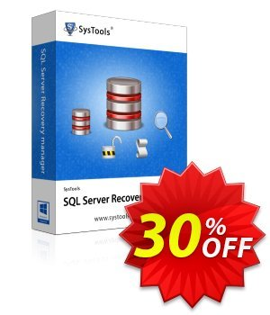 SQL Server Recovery Manager (dbpros.org) - Corporate License Coupon, discount SysTools coupon 36906. Promotion: SysTools promotion codes 36906
