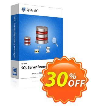 SysTools SQL Server Recovery Manager - Enterprise License discount coupon SysTools Summer Sale - SysTools promotion codes 36906