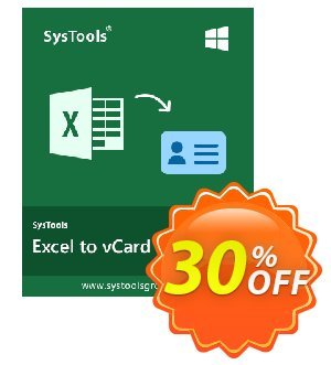 RecoveryTools for MS Excel to vCard Converter (Commercial) discount coupon SysTools coupon 36906 - SysTools promotion codes 36906