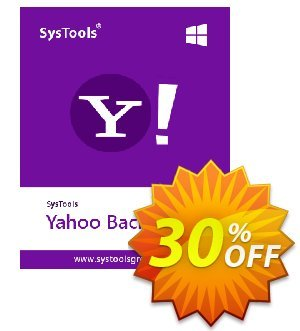 SysTools Yahoo Backup Tool Coupon, discount 30% OFF SysTools Yahoo Backup Tool, verified. Promotion: Awful sales code of SysTools Yahoo Backup Tool, tested & approved