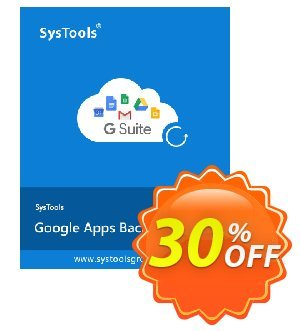 Google Apps Backup - 5 Users License Coupon discount SysTools coupon 36906 - SysTools promotion codes 36906