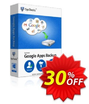 Google Apps Backup (mailbakup.com) - 10 Users License Coupon, discount SysTools coupon 36906. Promotion: SysTools promotion codes 36906
