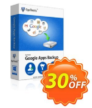 Google Apps Backup (mailbakup.com) - 25 Users License Coupon, discount SysTools coupon 36906. Promotion: SysTools promotion codes 36906