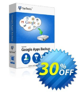 Google Apps Backup - 100 Users License 優惠券,折扣碼 SysTools coupon 36906,促銷代碼: SysTools promotion codes 36906