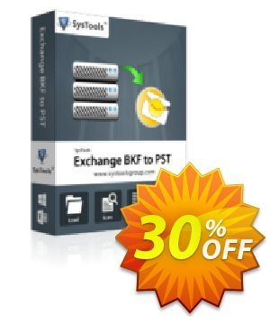 SysTools Exchange BKF to PST (Personal License) 優惠券,折扣碼 SysTools coupon 36906,促銷代碼: