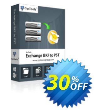 Exchange BKF to PST - Business License Coupon, discount SysTools coupon 36906. Promotion: