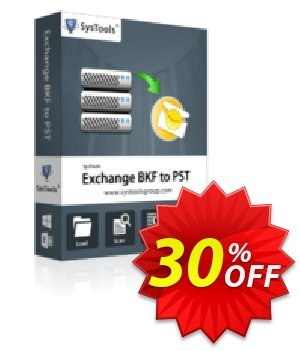 SysTools Exchange BKF to PST (Business License) 優惠券,折扣碼 SysTools coupon 36906,促銷代碼: