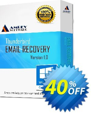 Amrev Thunderbird Email Recovery Coupon, discount 40% OFF Amrev Thunderbird Email Recovery Feb 2021. Promotion: Big deals code of Amrev Thunderbird Email Recovery, tested in February 2021