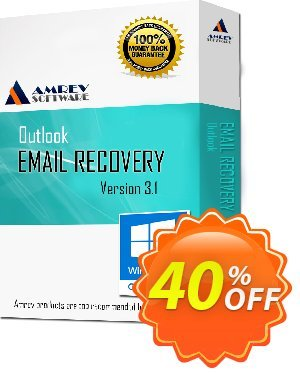 Get Amrev Outlook Email Recovery 40% OFF coupon code