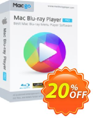 Macgo Mac Blu-ray Player Pro One Year Coupon, discount Special Offer for Affiliate. Promotion: