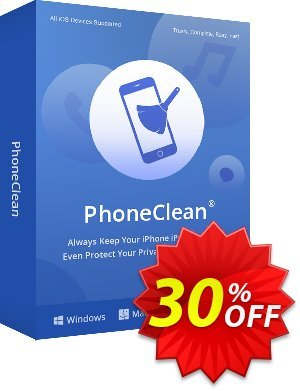 PhoneClean Pro for Mac (1 year) discount coupon PhoneClean Pro for Mac Stirring promo code 2021 - 30OFF Coupon Imobie