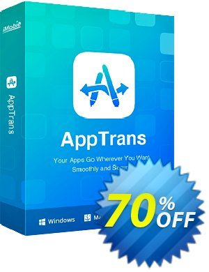 AppTrans for Mac Coupon discount AppTrans for Mac impressive offer code 2020. Promotion: 30OFF Coupon Imobie