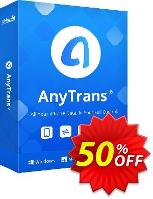 AnyTrans for Windows - family license Coupon, discount Coupon Imobie promotion 2 (39968). Promotion: 30OFF Coupon Imobie