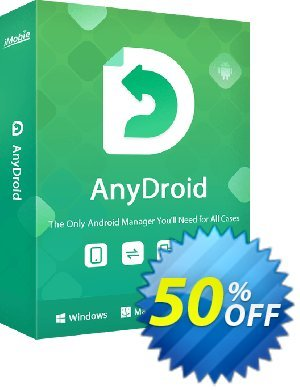 iMobie AnyDroid Family Plan (Lifetime License) offering sales 55% OFF AnyDroid Family Plan (Lifetime License), verified. Promotion: Super discount code of AnyDroid Family Plan (Lifetime License), tested & approved