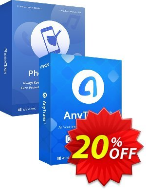 PhoneClean + AnyTrans Personal Bundle for Mac discount coupon PhoneClean + AnyTrans Personal Bundle for Mac Impressive promo code 2021 - Impressive promo code of PhoneClean + AnyTrans Personal Bundle for Mac 2021