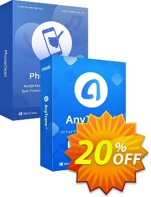 PhoneClean + AnyTrans Family Bundle for Windows discount coupon PhoneClean + AnyTrans Family Bundle for Windows Excellent deals code 2021 - Excellent deals code of PhoneClean + AnyTrans Family Bundle for Windows 2021