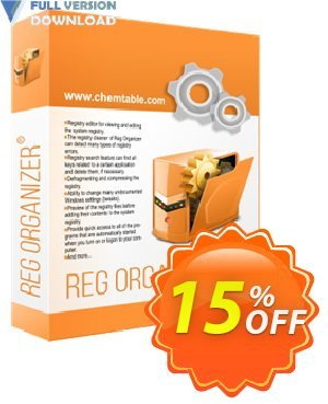 Reg Organizer - Company License for 1 PC Coupon discount 30% OFF Reg Organizer -