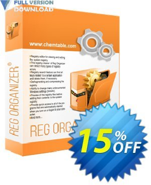 Reg Organizer - Personal License Coupon, discount 30% OFF Reg Organizer. Promotion: