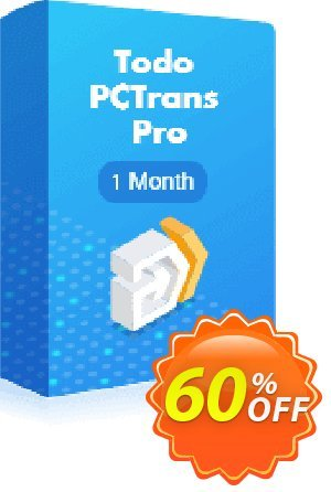 EaseUS Todo PCTrans Pro (1-month) Coupon, discount PC TRANSFER 30% OFF. Promotion: EaseUS Todo PCTrans Pro offer