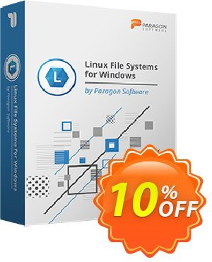 Paragon Linux File Systems for Windows 優惠券,折扣碼 10% OFF PARAGON Linux File Systems for Windows, verified,促銷代碼: Impressive promotions code of PARAGON Linux File Systems for Windows, tested & approved