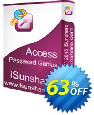 iSunshare Access Password Genius Coupon, discount iSunshare discount (47025). Promotion: iSunshare discount coupons