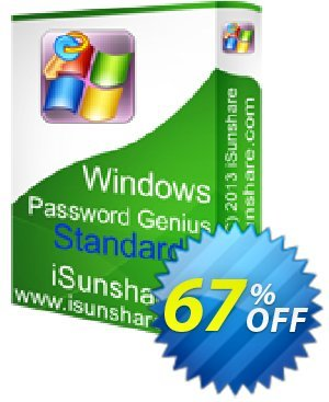 iSunshare Windows Password Genius Standard 프로모션  iSunshare discount (47025)