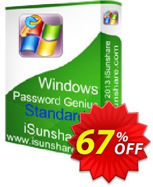 iSunshare Windows Password Genius Standard 제공  iSunshare discount (47025)