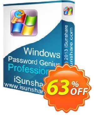 iSunshare Windows Password Genius Professional discount coupon iSunshare discount (47025) - iSunshare discount coupons
