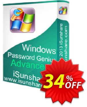 iSunshare Windows Password Genius Advanced 優惠券,折扣碼 iSunshare discount (47025),促銷代碼: iSunshare discount coupons