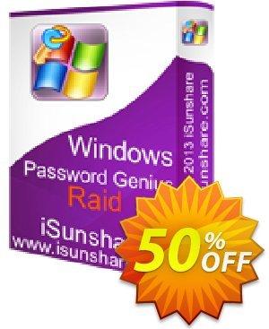 iSunshare Windows Password Genius Raid Coupon, discount iSunshare discount (47025). Promotion: iSunshare discount coupons