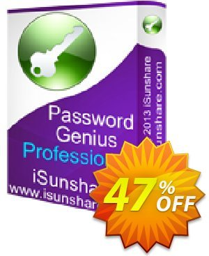 iSunshare Password Genius Professional 優惠券,折扣碼 iSunshare discount (47025),促銷代碼: iSunshare discount coupons