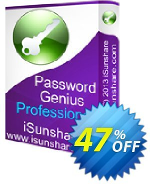iSunshare Password Genius Professional Coupon, discount iSunshare discount (47025). Promotion: iSunshare discount coupons