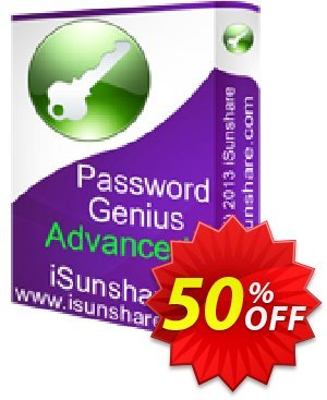iSunshare Password Genius Advanced discount coupon iSunshare discount (47025) - iSunshare discount coupons