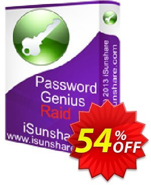 iSunshare Password Genius Raid Coupon discount iSunshare discount (47025). Promotion: iSunshare discount coupons