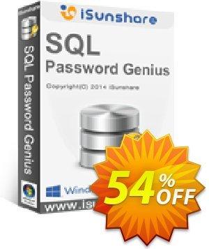 iSunshare SQL Password Genius Coupon, discount iSunshare discount (47025). Promotion: iSunshare discount coupons