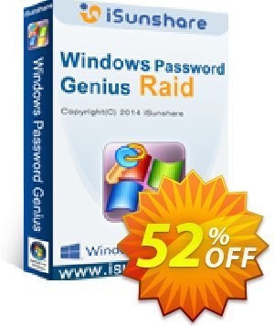 iSunshare Windows Password Genius for Mac Raid 優惠券,折扣碼 iSunshare discount (47025),促銷代碼: iSunshare discount coupons iSunshare Windows Password Genius