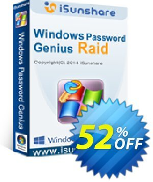 iSunshare Windows Password Genius for Mac Raid Coupon, discount iSunshare discount (47025). Promotion: iSunshare discount coupons iSunshare Windows Password Genius