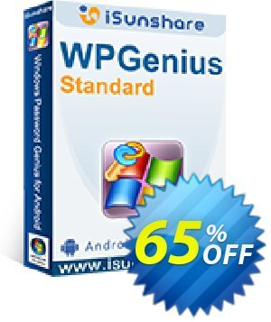 iSunshare WPGenius Standard Coupon, discount iSunshare WPGenius  discount (47025). Promotion: iSunshare discount coupons iSunshare Windows Password Genius
