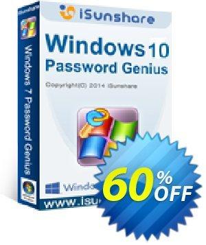 iSunshare Windows 10 Password Genius Coupon, discount iSunshare discount (47025). Promotion: iSunshare discount coupons