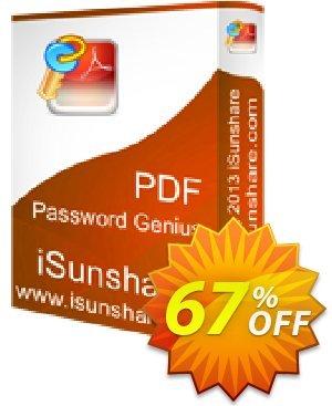 iSunshare PDF Password Genius Coupon, discount iSunshare discount (47025). Promotion: iSunshare discount coupons
