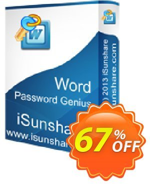 iSunshare Word Password Genius Coupon, discount iSunshare discount (47025). Promotion: iSunshare discount coupons